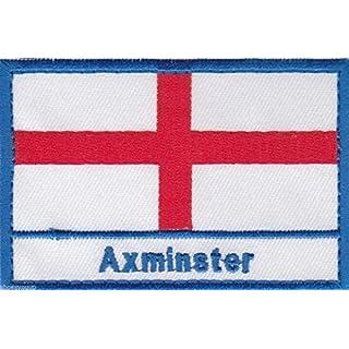 Axminster England Town & City ST GEORGE KREUZ BESTICKT Nähen auf Patch Badge