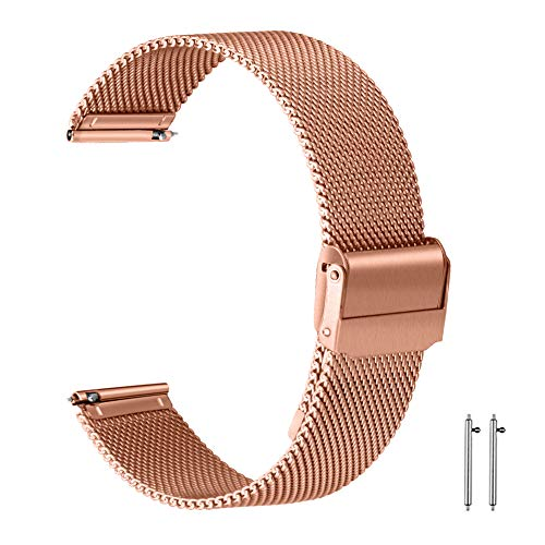 22mm Milanese Armband Milanese Armband Rosegold Uhrenarmband 22mm 22 mm Armband Milanese Edelstahl Uhrenarmband Für Herren Roségold 22mm Uhrenarmband Mesh