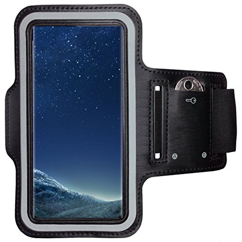 CoverKingz Samsung Galaxy S8 Plus Sportarmband Fitness-Hülle Schwarz Jogging-Case mit Schlüsselfach Handy-Lauf-Tasche Running-Case Handy-Tasche Sport Fitness-Armband