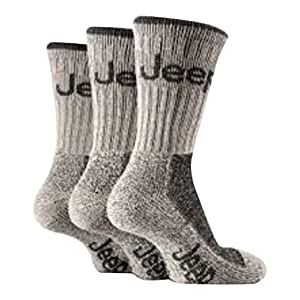 51vAjmySiYL. SS300  - Mens Stone 3 Pair Luxury Jeep Terrain Walking Hiking Socks 6-11 uk, 39-45 eur