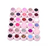 Lot de 30 Couleur Vernis Gel Nail Polish Semi-permanent UV LED Soak Off Base Top Coat Manucure Kit de 30 Coulors