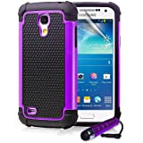 ihomegadget Shock Proof case cover for Samsung Galaxy S4 Mini i9190 + FREE screen protector and cleaning cloth - Purple