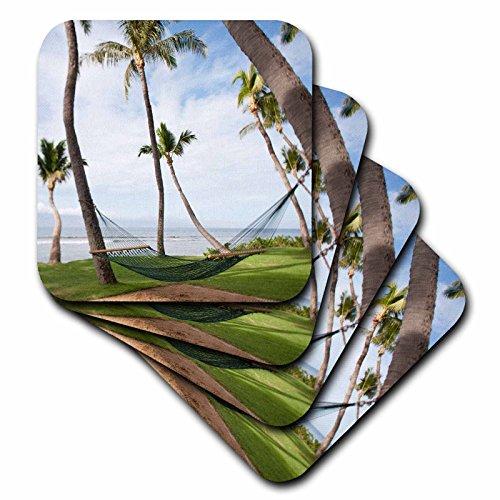 Danita Delimont–Hawaii–Hängematte Unter Hawaiianische Palmen, Maui, Hawaii–= jgs0038–Jim Goldstein–Untersetzer, keramik, set-of-4-Ceramic (Küsten-dekor-tischsets)
