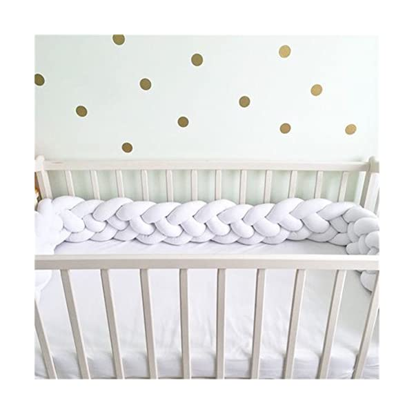 elegantstunning Baby Crib Bumper Knotted Braided Plush Nursery Pillow Cushion elegantstunning Made of high quality material, soft and comfortable, safe, durable. Avoid your baby's head, legs or hands bumping into crib, keeps your little ones safe. Fits all baby cribs or toddler stroller carriage, flexible to use. 6