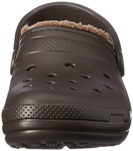 Crocs Classic Lined Clog, Sabots Mixte Adulte Marron (Espresso/Walnut)