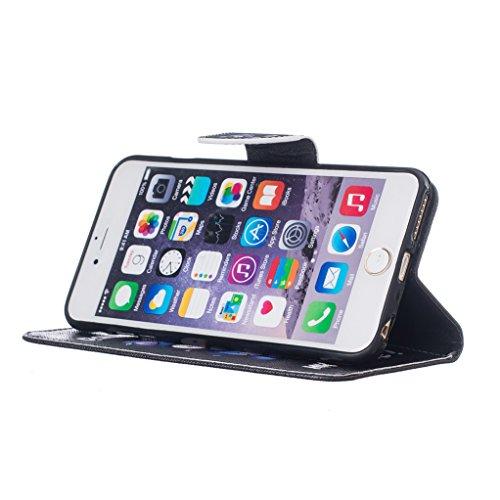 Trumpshop Smartphone Case Coque Housse Etui de Protection pour Apple iPhone 6 / iPhone 6s (4.7-Pouce) + Don't Touch My Phone (Ourson) + Mode Portefeuille PU Cuir Avec Fonction Support Don't Touch My Phone (couteau)