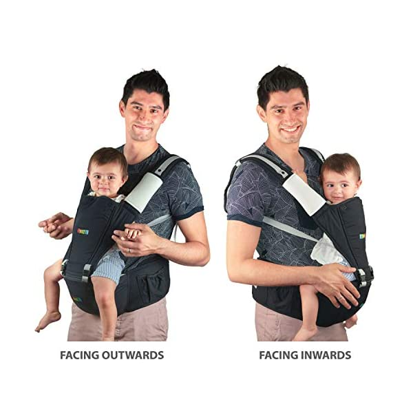 Baby Carrier Hip Seat Sling by NimNik Best Safe Backpack Carriers Back Pain Support (Pearl Black) NimNik ★ NO MORE BACK AND SHOULDER PAIN - NimNik offers an innovation in baby carrying fashion and quality for girls and boys! This Soft Structured Baby Carrier is not only versatile with four different carry positions, but perfectly comfortable for both you and your little one. That twined with unmatched durability makes NimNik Baby Carriers a popular choice in ergonomic baby carriers! ★ DESIGNED FOR STYLE AND COMFORT - With superior padding in our adjustable EXTRA LONG WAIST STRAPS (50 inches / 125 cms) and ergonomic lumbar support for you, say goodbye to backpain and other back, hip and shoulder related carrying issues. With the extremely ergonomic hip seat, you can rest assured that your little one is sitting pretty in style and comfort no matter how you carry! ★ PREMIUM COTTON FOR SOFT AND COSY FEELING - From front facing out and facing in, to hip, to back carry, you'll be comfortable, and so will children. Not every baby likes to be carried the same way, from 6 months and up. Our baby carrier comes with a wide range of comfortable carry positions to use as best suits the both of you, without the back pain after maternity. 7