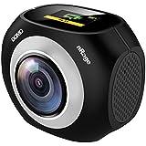 VR Panoramic 360 & 720 Degree Standalone Camera with Mini Tripod DOMO nRage Pano 360 with MicroSD Card Slot & Micro USB Port - Black