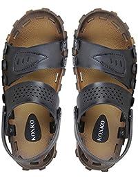 Koxko Flexible Faux Leather Casual Sandal For Men