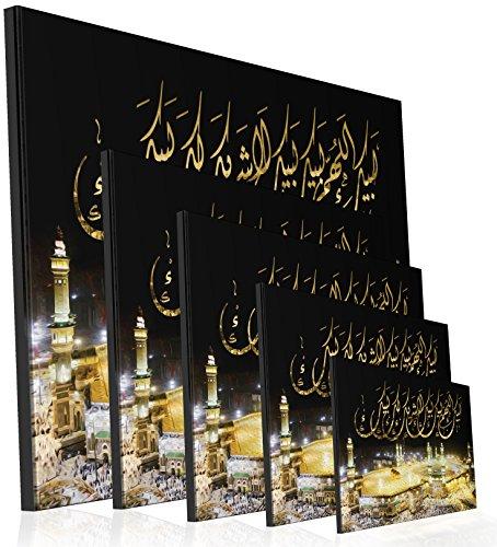 Mekka Kaaba bei Nacht Masjid Alharam Islamische Leinwandbilder Islambild Islam Fotoleinwand fertig gespannt auf Keilrahmen Fotoleinwand Islambild Islamische Leinwand (60 x 40 cm)