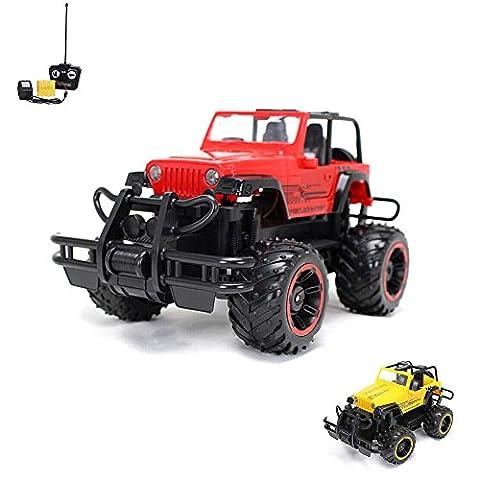 1:16 Off-Road RC ferngesteuerter Geländewagen, Auto, Fahrzeug, Jeep Truck Modell, Komplett-Set inkl. Fernbedienung, Akku und