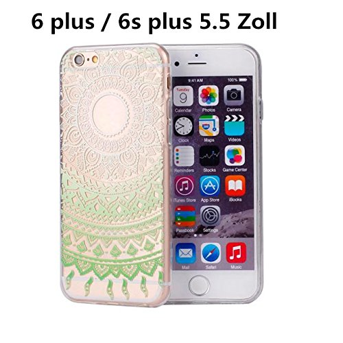 Ouneed® For iPhone 6 6s Plus Hülle,Bunte Vintage Haut PC Hard Case für iPhone 6 / 6S plus 5,5 Zoll (H) A