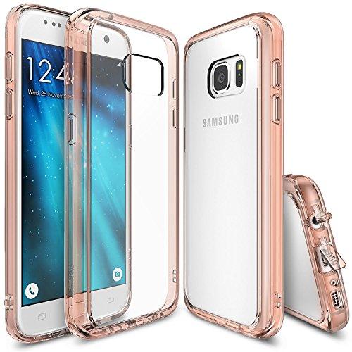 Galaxy S7 Hülle, Ringke FUSION kristallklarer PC TPU Dämpfer (Fall geschützt/ Schock Absorbtions-Technologie) für das Galaxy S7 - Rosengold