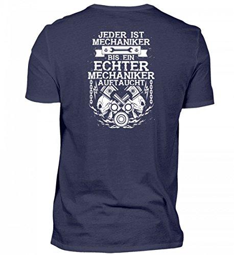 shirt-o-magic Hochwertiges Herren Shirt - bis Ein Echter Mechaniker auftaucht - Geschenk KFZ-Mechatroniker-in Schrauber-in (Color Magic-handschuhe)