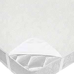 Jago - Protège Matelas 220x100 cm Alèse Imperméable en Coton Respirant (Taille au Choix)