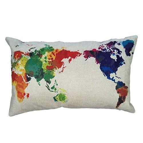 Venkaite federa cuscino cotone misto lino federe per cuscini famiglia divano decorativo 30 x 50 cm