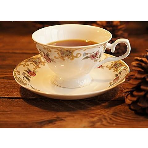 Copa inglesa bone China café/Taza de café de cerámica creativa/ taza-A