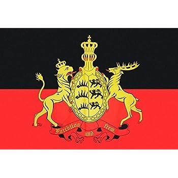 Baden Württemberg Text Flagge 150 x 90 cm wetterfest Fahne Ösen Außen Hissflagge