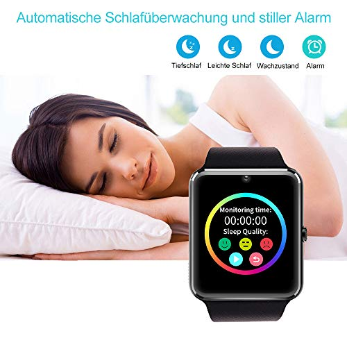 YAMAY Bluetooth Smartwatch Fitness Uhr Intelligente Armbanduhr Fitness Tracker Smart Watch Sport Uhr mit Kamera Schrittzähler Schlaftracker Romte Capture Kompatibel mit Android Smartphone - 3