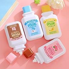 4PCS/LOT kawaii Stationery Cute Milch Flasche Korrektur Tapes Cinta correctora Zakka canetas Schule Office Supplies papelaria changlesu