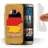 Stuff4 Gel TPU Hülle / Case für HTC One M9+/Plus / Deutschland/Deutsch Muster / Flagge Land Kollektion
