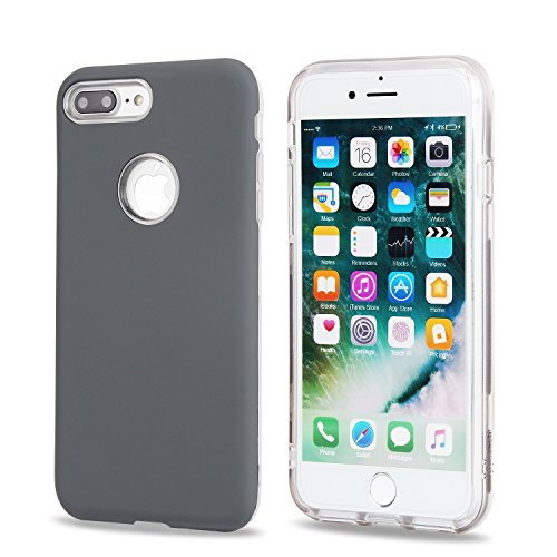 GR IPhone 7 Plus - Ultradünne leichte Dual Layer Hybrid Schutzhülle Bumper Case ( Color : Gold ) Gray