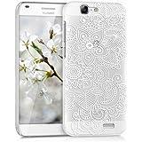 kwmobile Elegante y ligera funda Crystal Case Diseño étnico para Huawei Ascend G7 en blanco transparente