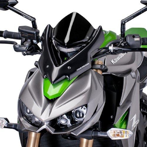 Puig 7011N Windschutzscheibe Cockpitverkleidung für Kawasaki Z1000 2014, Schwarz, Medium