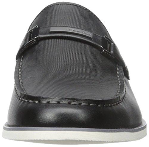 Calvin Klein Kiley Herren Rund Leder Slipper Black