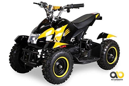 Mini Eléctrico Niños ATV Cobra 800 Vatios Pocket Quad - amarillo