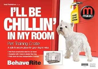 Mikki Training Two Door Dog Crate, 76 x 54 x 61 cm - Small