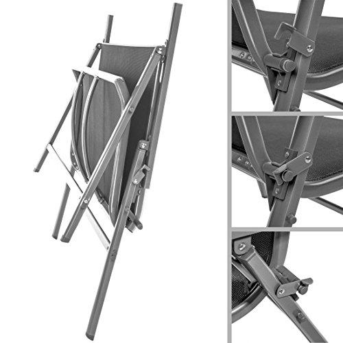 Ultranatura Korfu-Serie-Plus, Aluminium Gartenbank mit Armlehne, grau - 5