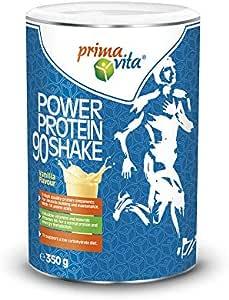 Primavita - Power Protein 90, proteine in polvere per shake con 5 fonti proteiche, gusto vaniglia, 350 g, 11-12 porzioni