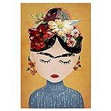 artboxONE Poster 30x20 cm Frida Kahlo Menschen Frida (Yellow Version) - Bild Frida Kahlo Yellow