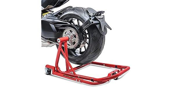 Motorrad Montagest/änder Ducati Streetfighter//S 09-13 Single Mover Rot hinten inkl ConStands Rangierhilfe und Bolzen