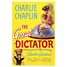 Póster de película el gran dictador 27 x 40 en - 69 cm x 102 cm Charlie Chaplin Paulette Goddard Jack Oakie Billy Gilbert Reginald Gardiner Henry Daniell