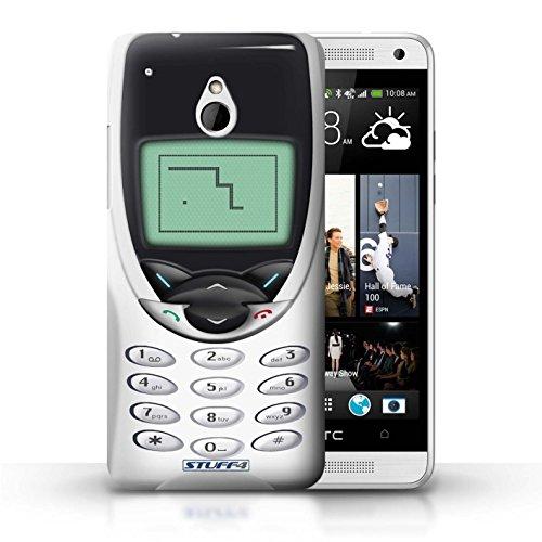 Kobalt® Imprimé Etui / Coque pour HTC One/1 Mini / Nokia 8210 jaune conception / Série Portables rétro Nokia 8210 blanc