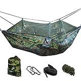 VOBAGA Hängematte Leichte Tragbare Nylon Fallschirm Hängematte für Camping Reisen Strand Hof Innen-Oder Outdoor-Einsa