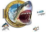 Haifisch-kreative Aufkleber für Kinderzimmer-Baby-Kinderzimmer-Jungen-Schlafzimmer