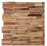 10 STK.1 m² Küchenrückwand Wanddekoration Wandverkleidung, Wandpaneele aus verwittertem und recyceltem Alten Holz in Holzoptik für Schlafzimmer Wohnzimmer Küche und Terrasse