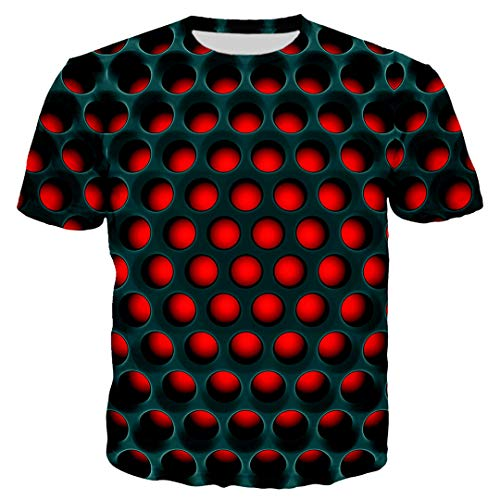 Unisex Dartscheibe 3D Print Schwarz Rot Chrom Metallgitter T Shirt/Sweatshirt/Hoodie Harajuku Top 1 Asian Size XXXL (Cherokee Herren T-shirt Schwarz)
