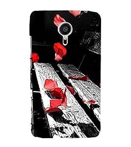 Red Petals on Bench 3D Hard Polycarbonate Designer Back Case Cover for Meizu MX5