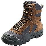 Free Soldier Chaussures High-top militaire pour homme tactique Bottes de randonnée à lacets travail Combat tous les terrains résistante à l'usure Bottes 3 couleurs, Wolf-Brown, 42