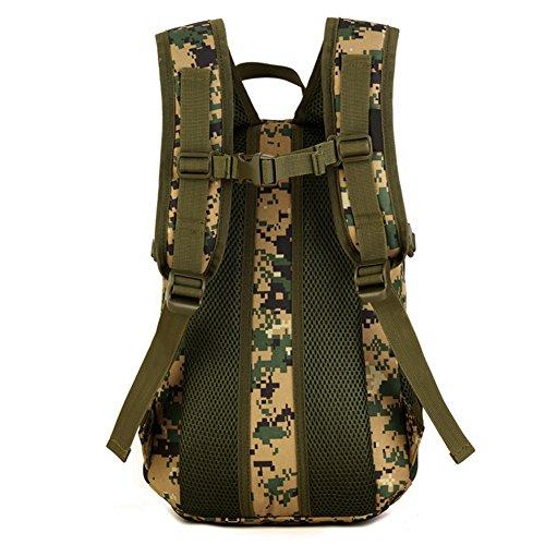 Imagen de huntvp táctical  militar  asalto  gran bolsa de hombro impermeable 12l para las actividades aire libre, senderismo, caza ,viajar, color camuflaje de la selva alternativa