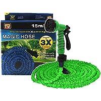 Magic Hose Tubo mágico elástico para jardín, bomba estenisibile hasta 3veces su longitud inicial 15m o 45m