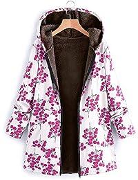 Mambain Cappotti Invernali Donna Cardigan Felpe Cotone Caldo Antivento  Manica Lunga Taglie Forti Parka Belli con 1cd327e5392