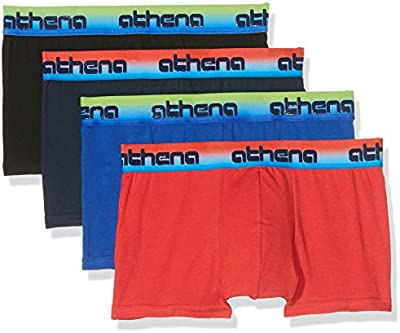 Athena LF06, Calzoncillos Para Niños, Pack de 4