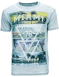 Soul Star col ras du cou MT diante Miami Beach T-shirt pour homme Imprimé 76
