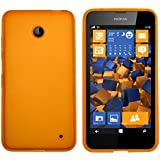 mumbi Coque de protection pour Nokia Lumia 630/635 TPU gel silicone transparent orange
