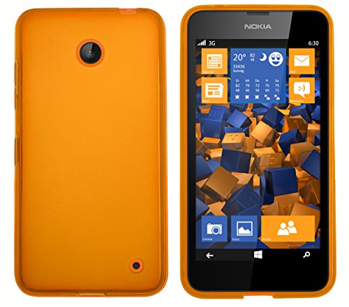mumbi Schutzhülle für Nokia Lumia 630/635 Hülle transparent orange